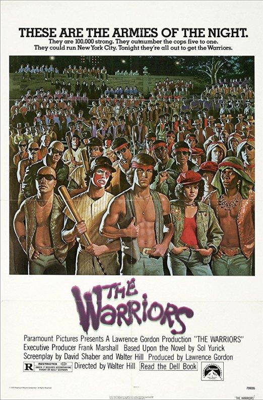 40 anni dei Guerrieri della notte - manifesto originale del film poi ritirato