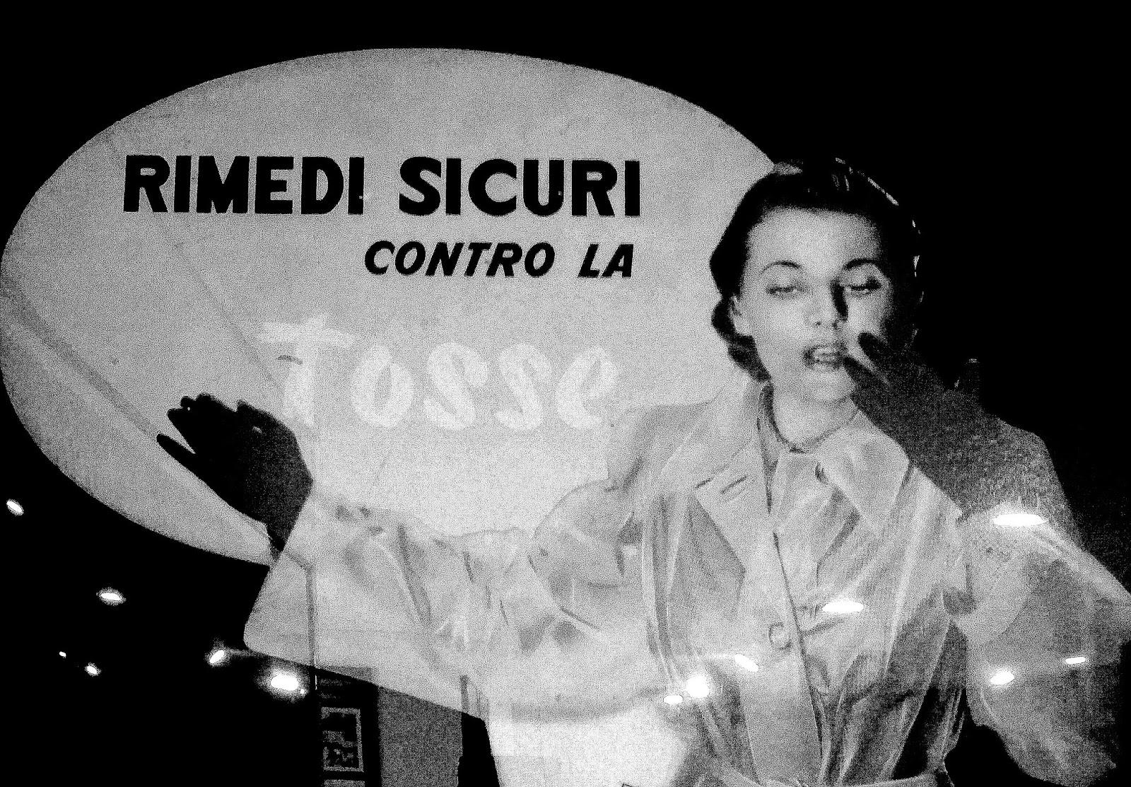 Angela Giussani modella per le pastiglie Valda. Photo Mostra Diabolik Milano 1962 - La nascita di un mito